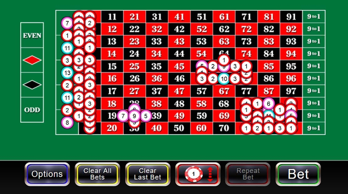 100 to 1 Roulette Casino Game