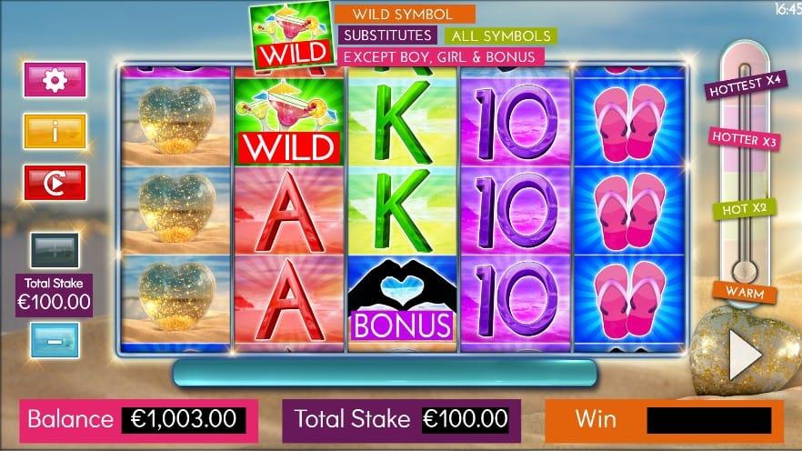 Love Island Bonus Casino Game Play