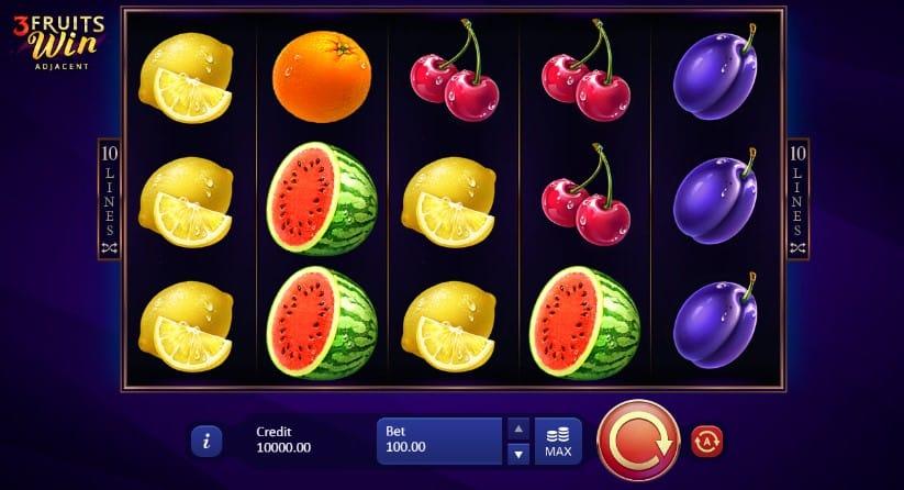 3 Fruits Win: 10 Lines casino gameplay
