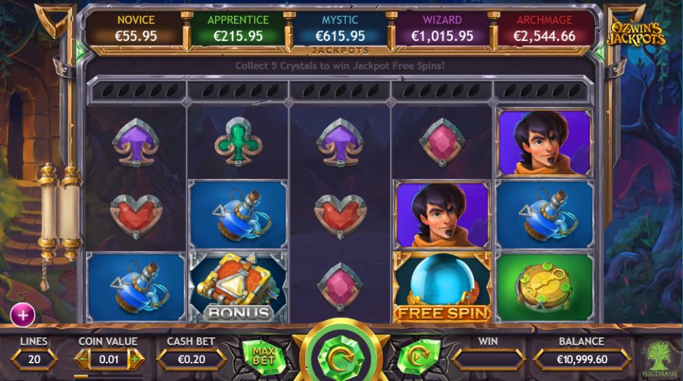 ozwin's jackpot game casino