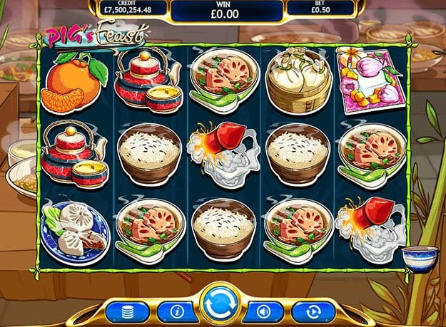 pig's feast slots casino game