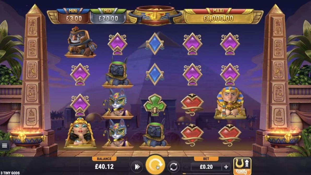 3 Tiny Gods Slot Gameplay