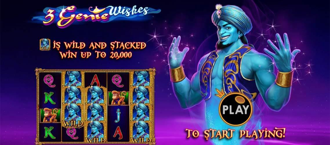 3 Genie Wishes Slots Mega Reel