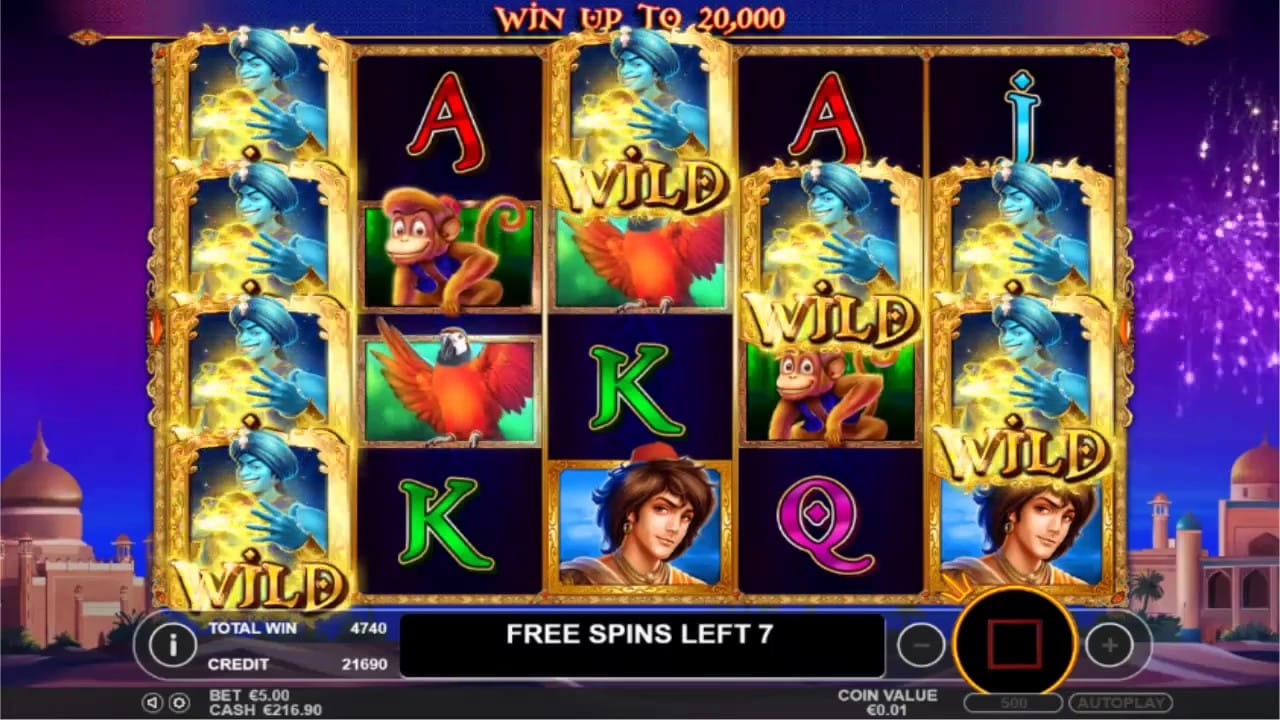 3 Genie Wishes Slots Game