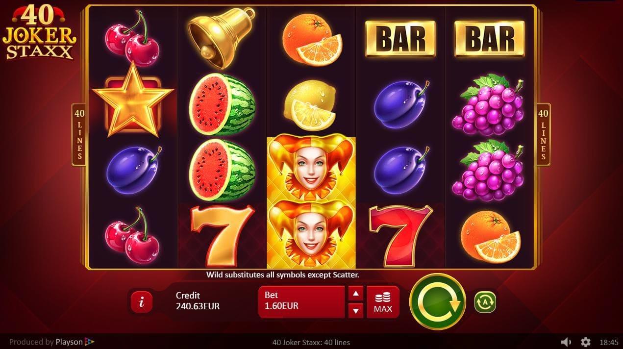 Gameplay of 40 Joker Staxx slot
