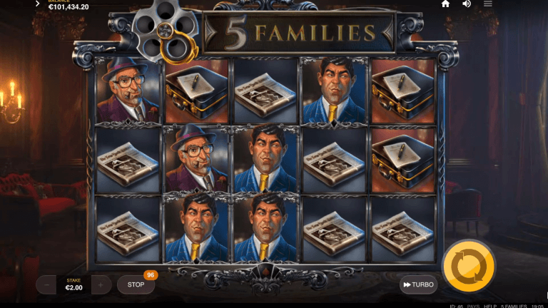 5 Families Slot Gameplay