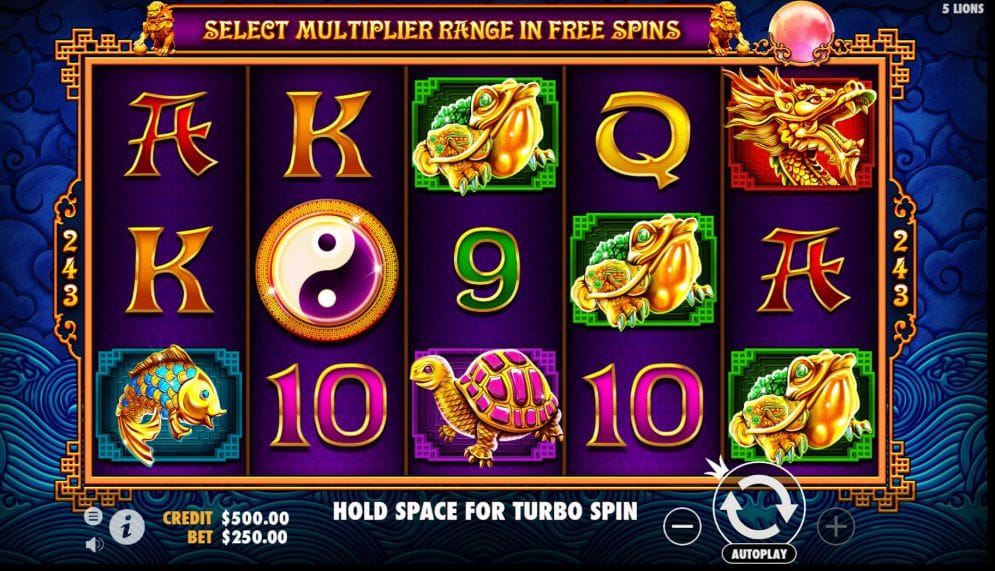 5 Lions Gold slot game gameplay