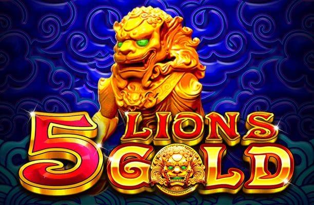 5 Lions Gold casino game logo