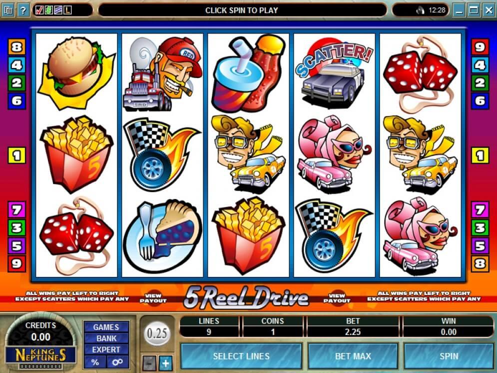 5 Reel Drive Slot Online