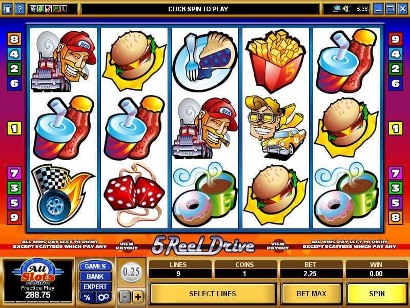 5 Reel Drive Slots Game