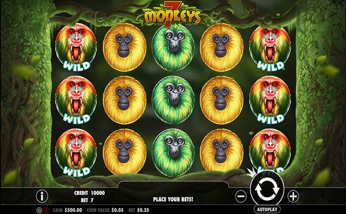 7 Monkeys Slots Game