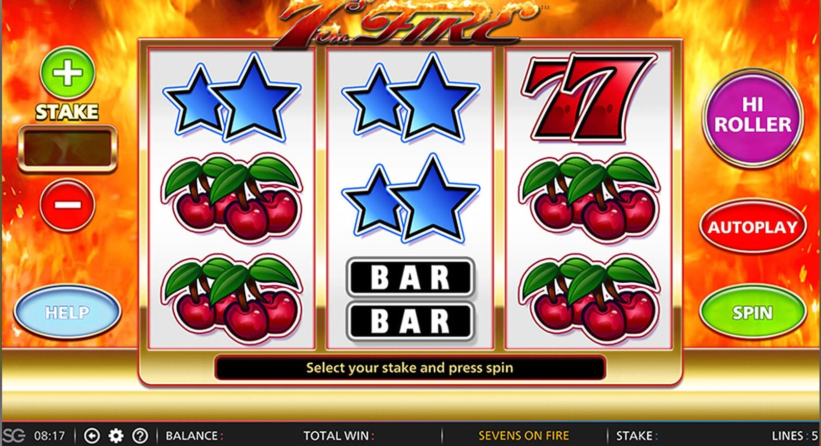 Play 7s on Fire Slots Online