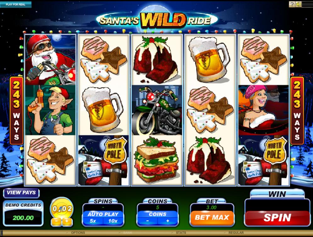 santas wild ride casino slots