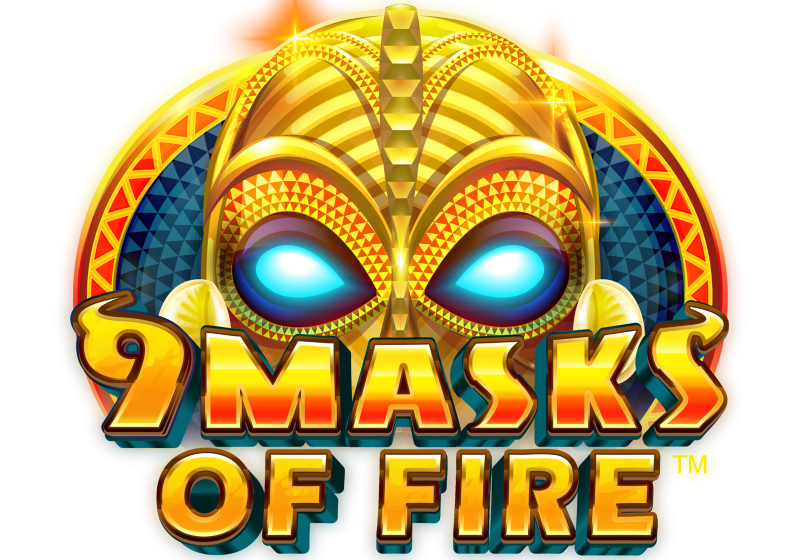 9 Masks of fire slot logo