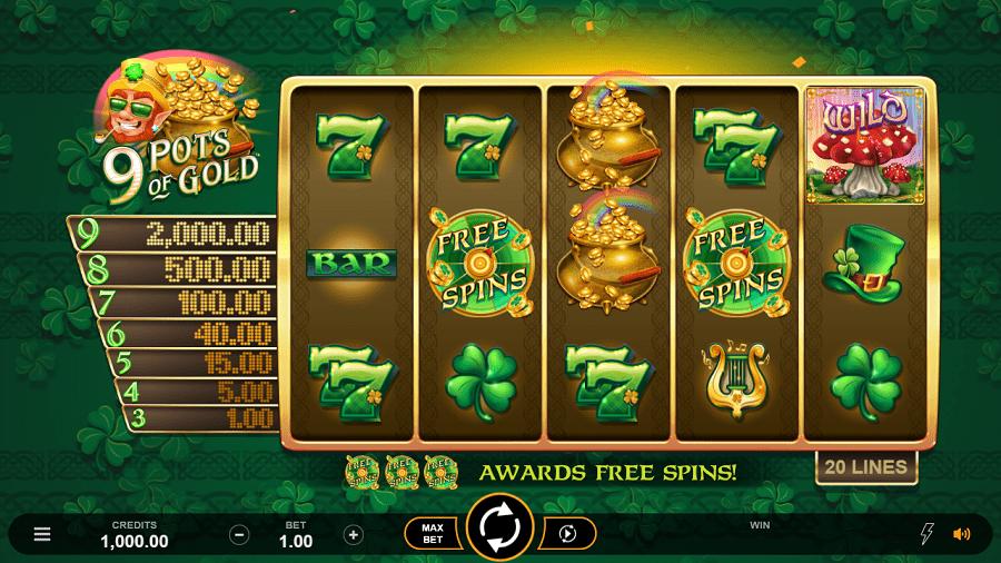 9 Pots of Gold Slots Online