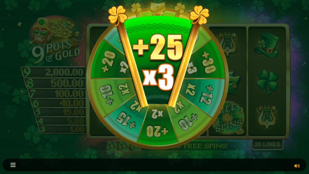 9 Pots of Gold Slots Bonus