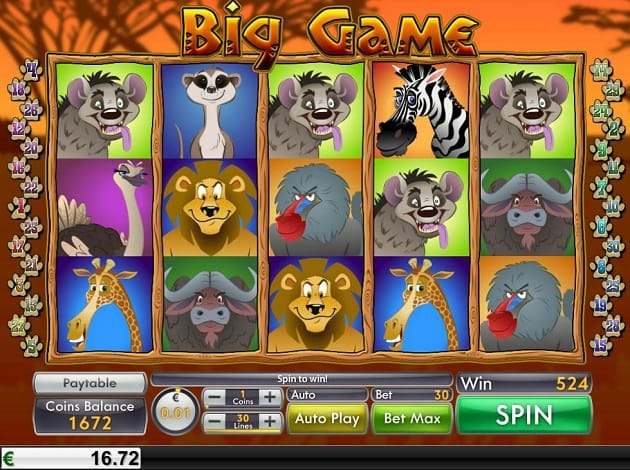 Big Game Slots Online