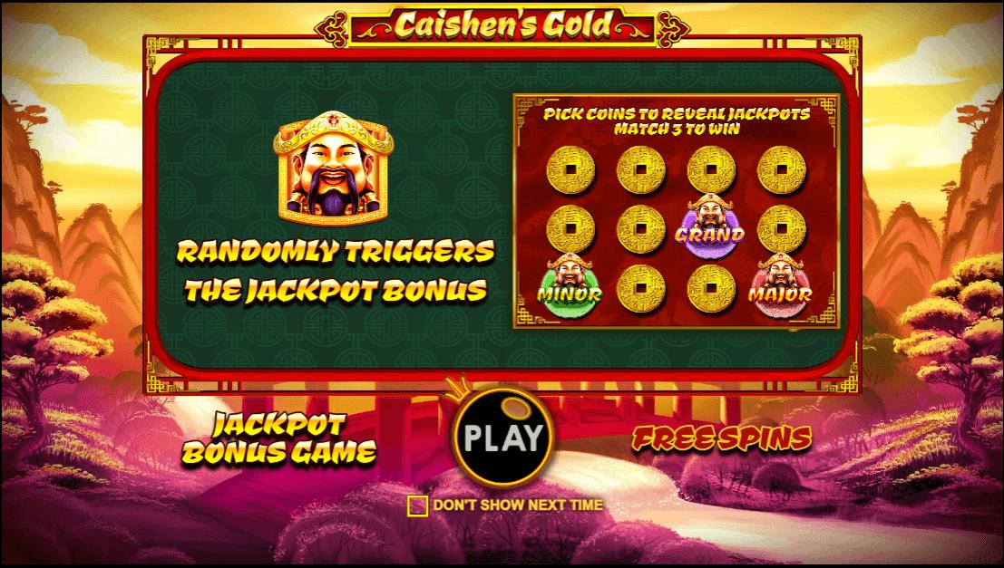 Caishen's Cash Slot Bonus