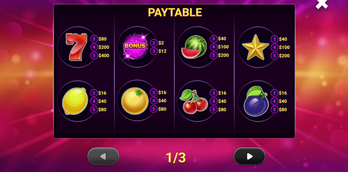 Cheeky Fruits Slot Symbols