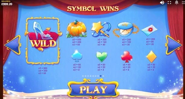 Cinderella's Ball Slots Mega Reel