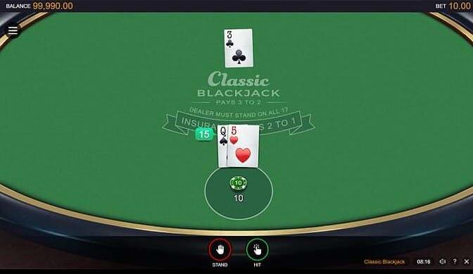 Classic Blackjack Game