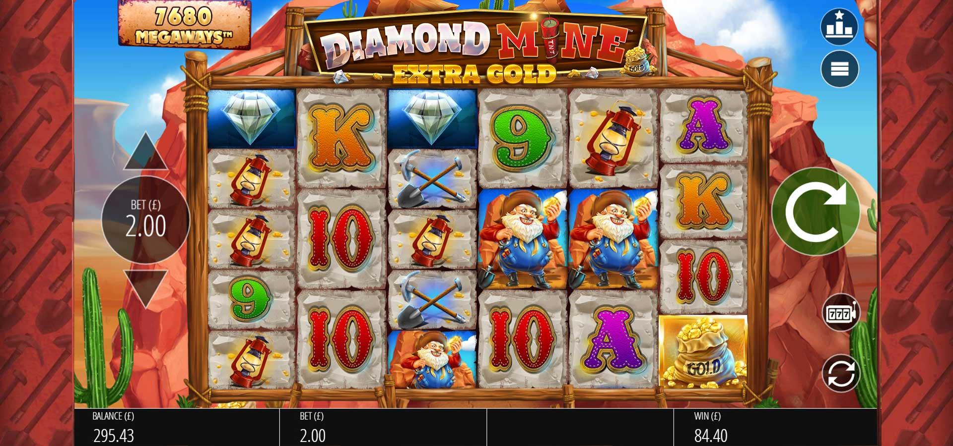 Diamond Mine: Extra Gold Free Slots