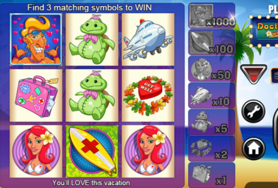 Scratch Dr. Love on Vacation Slots Online