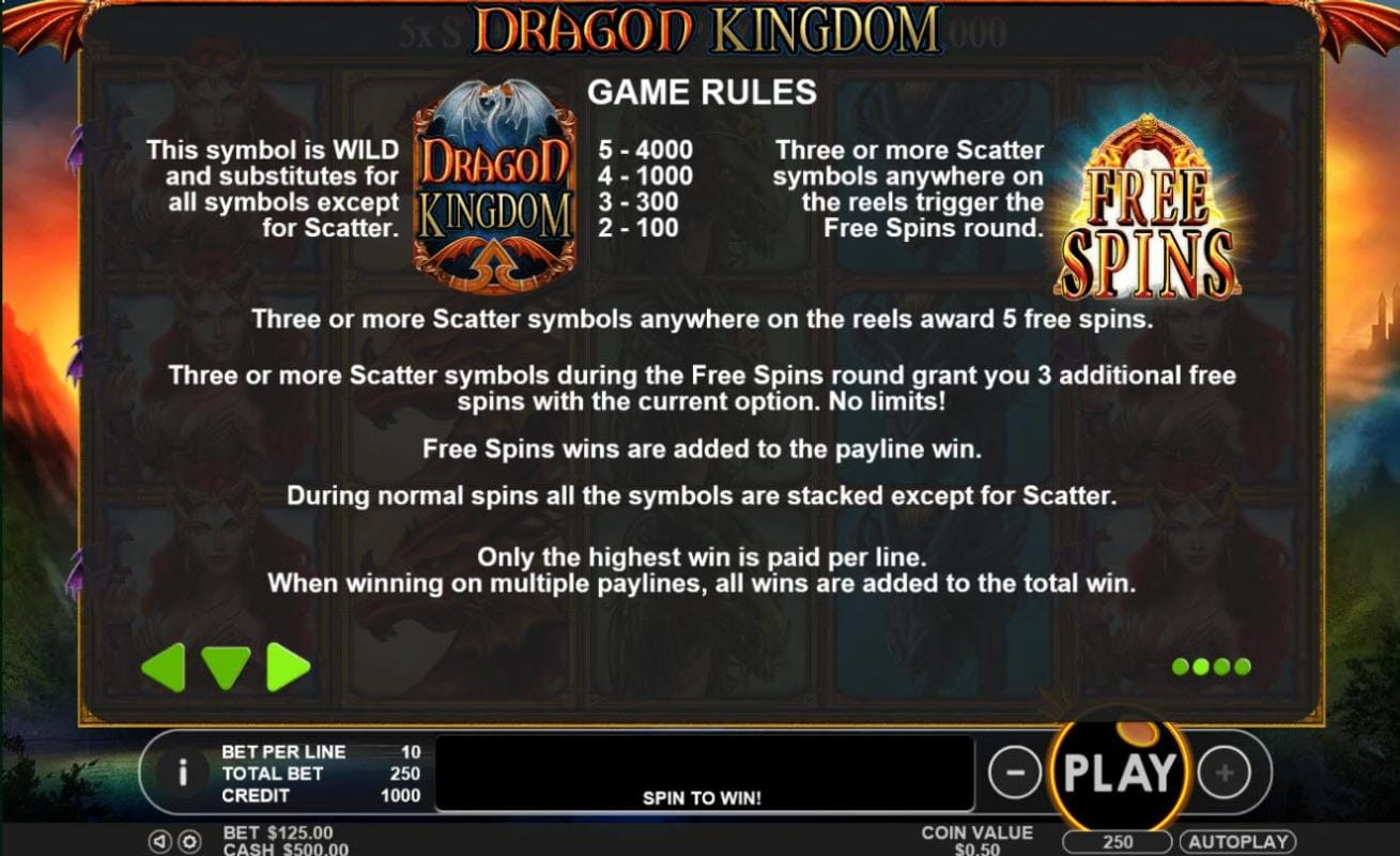 Dragon Kingdom Slots Bonus