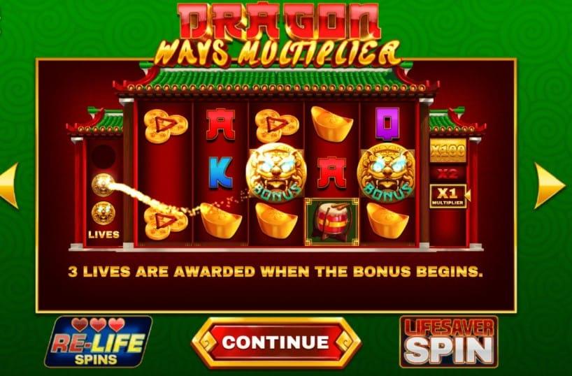 Dragon Ways Multiplier Slots Reel
