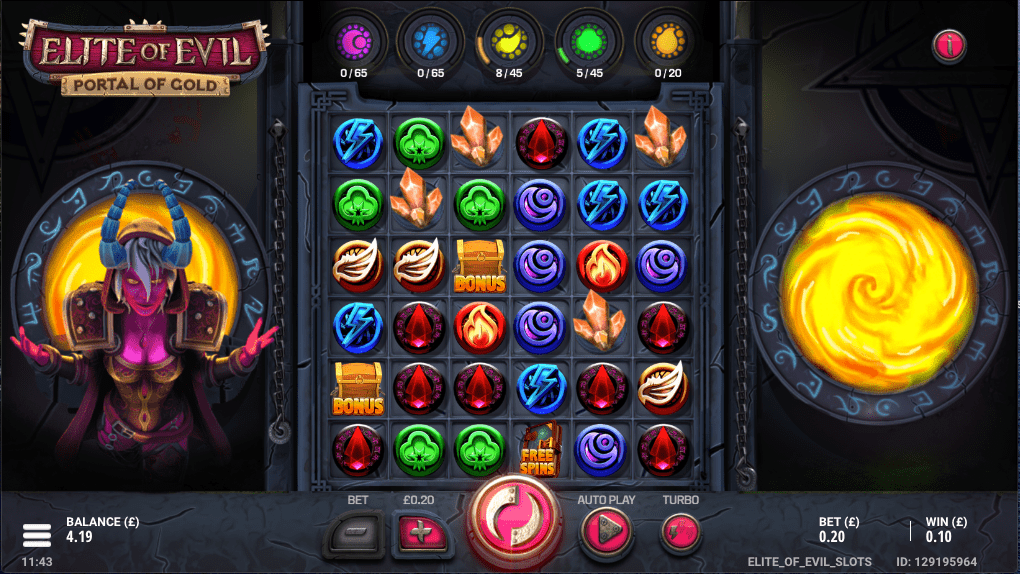 Elite of Evil Portal of Gold Slots Online