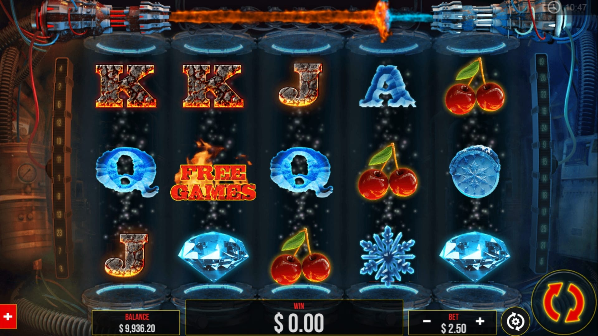 Fire Vs Ice Slot gameplay