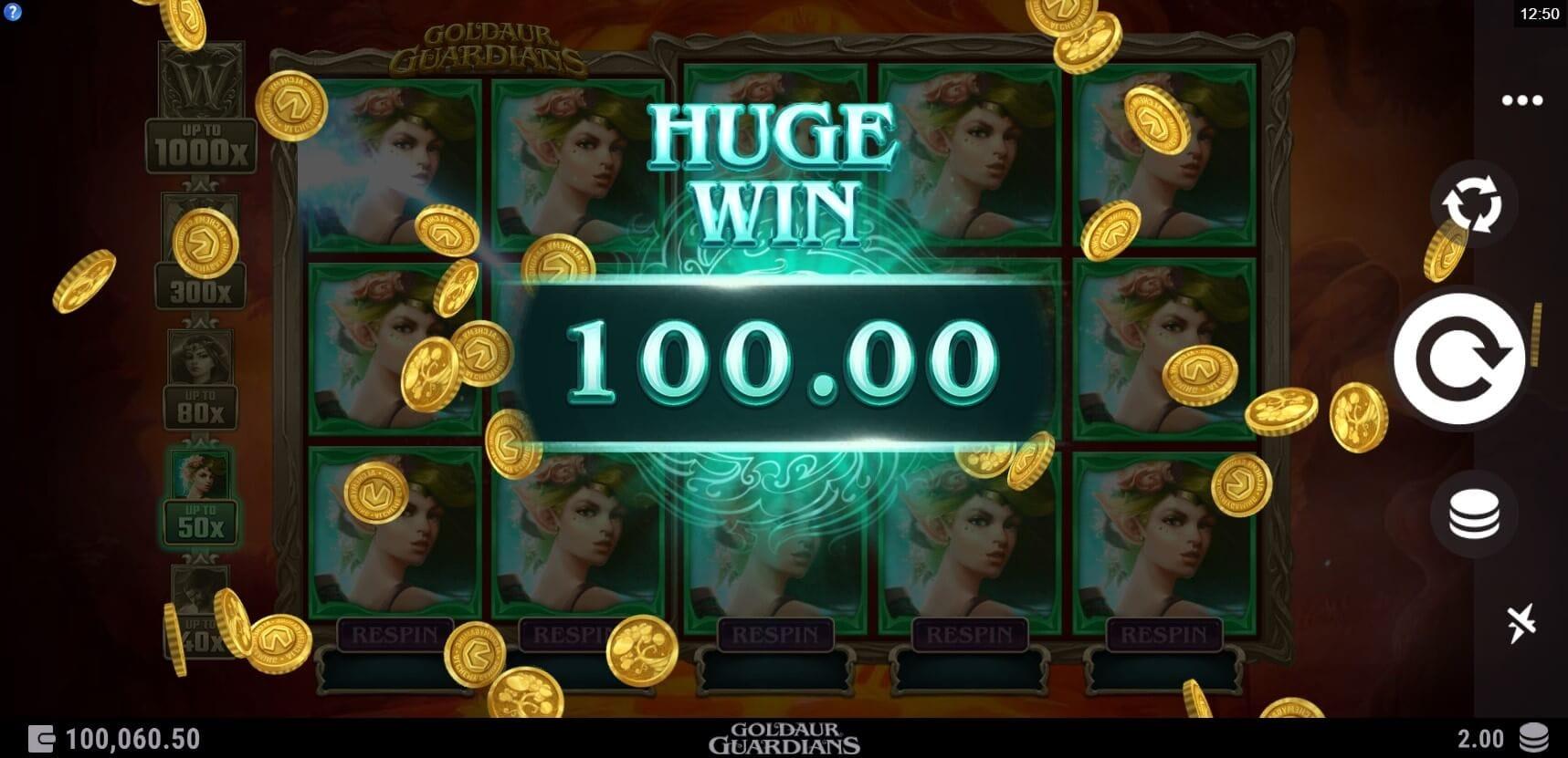 Goldaur Guardians Slots Huge Win