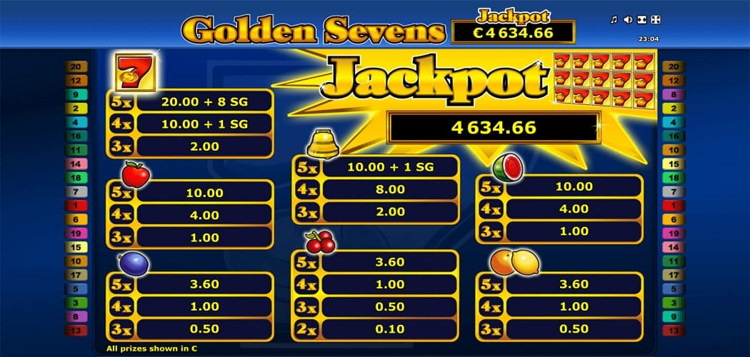 Golden 7's Slot Symbols