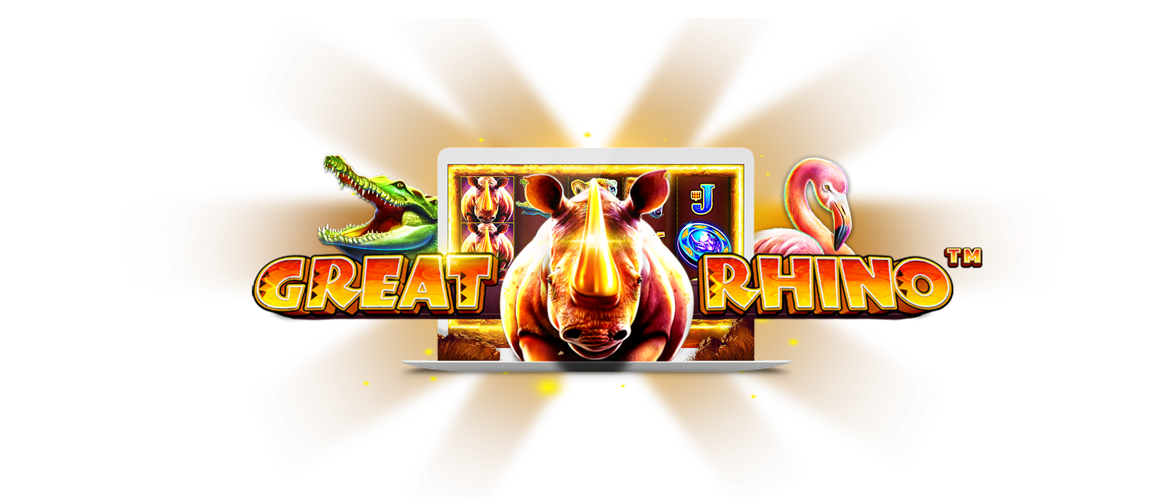 Great Rhino Slot Logo Mega Reel