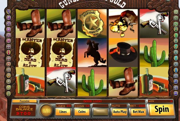 Gunspinner's Gold Slots Reels
