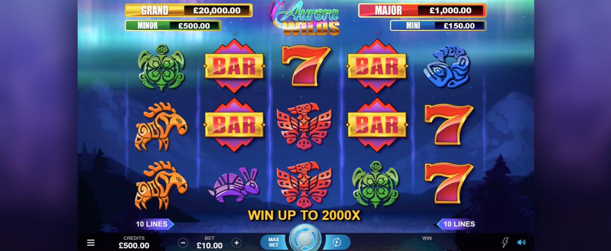 Aurora Wilds gameplay casino