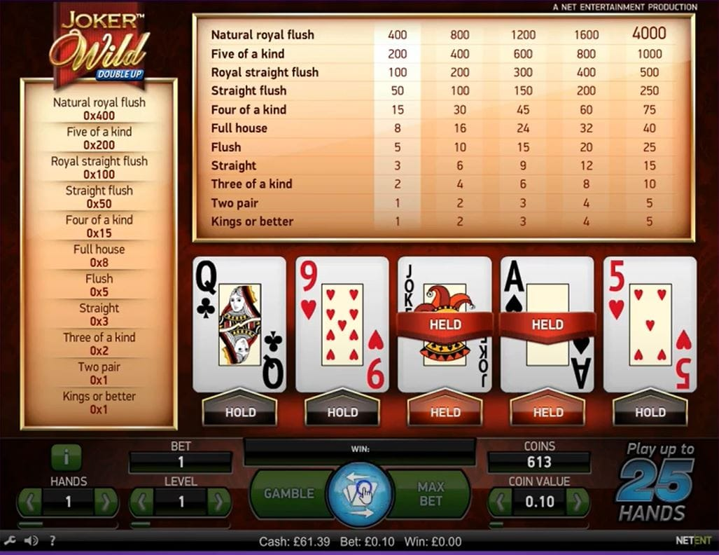 Joker Wild Double Up Slot UK Casino