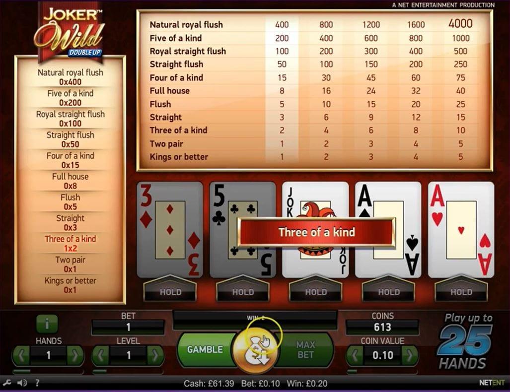 Joker Wild Double Up Casino Game