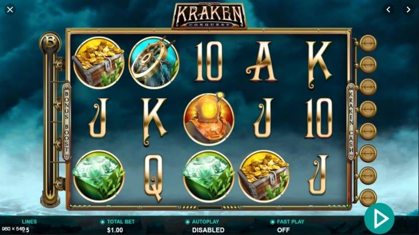 Kraken Conquest Slots Reels