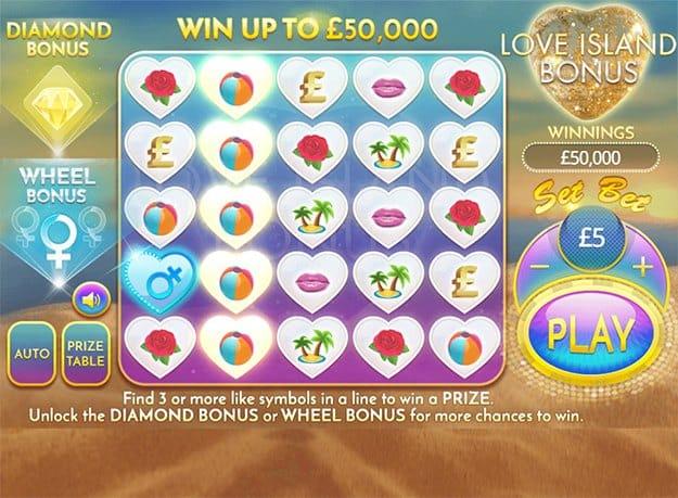 Love Island Bonus Casino Game