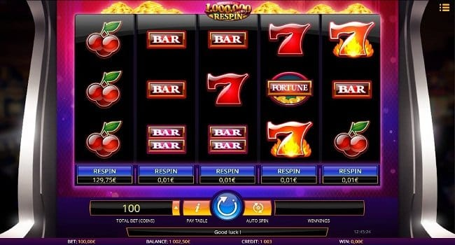 Million Coins Respin Slots UK