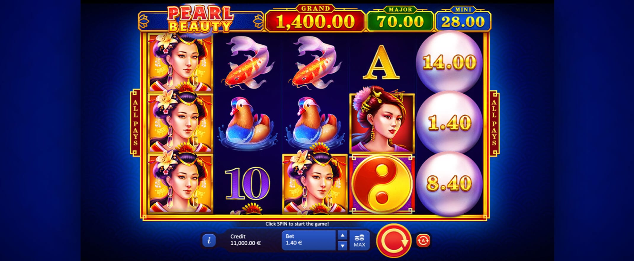 Pearl Beauty Hold and Win Slot Game