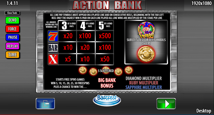 Action Bank Slots Online
