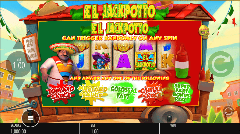 El Jackpotto Slots Special features