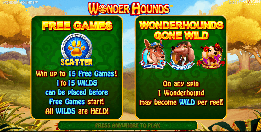 Wonder Hounds Slot Bonus Features