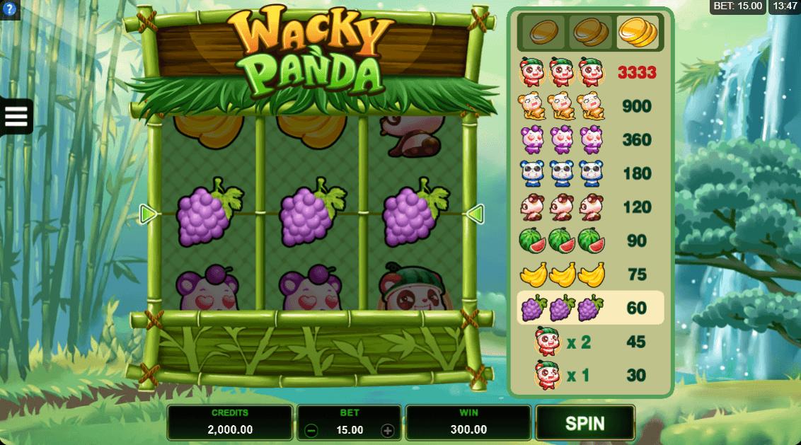 Wacky Panda slots UK