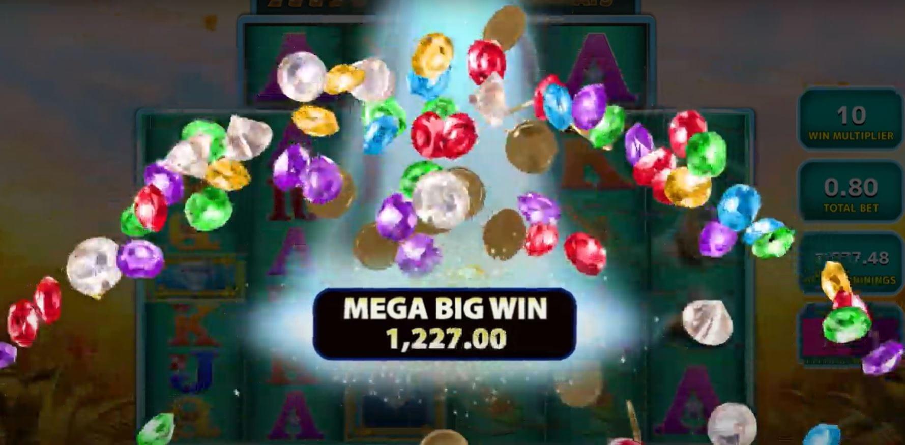 Raging Rhino MegaWays Slots Win