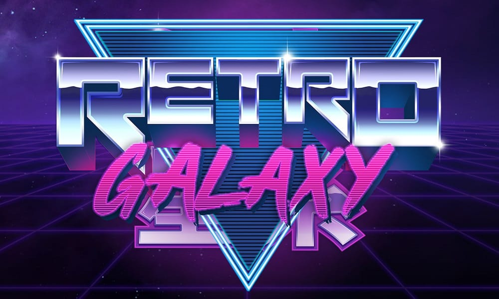 Retro Galaxy Slots Logo Mega Reel
