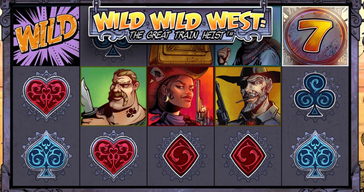 wild wild west train heist slots