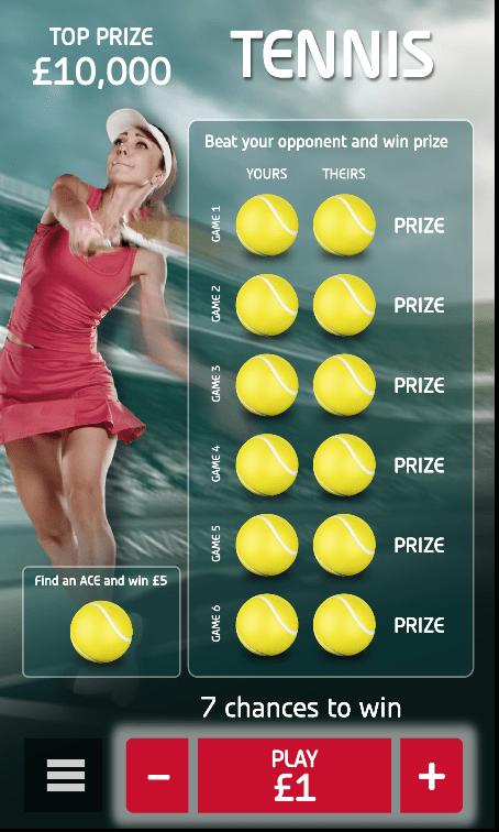 tennis scratch online game